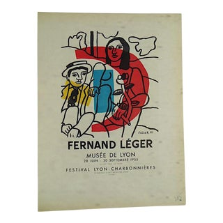 Mid 20th C Modern Lithograph-Fernand Leger-Printed by Mourlot