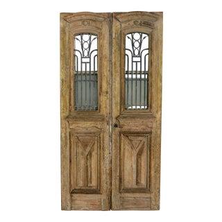 Antique Indian Wood & Wrought Iron Doors