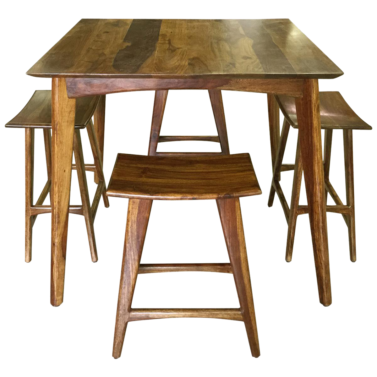 wooden bar table u0026 stools set