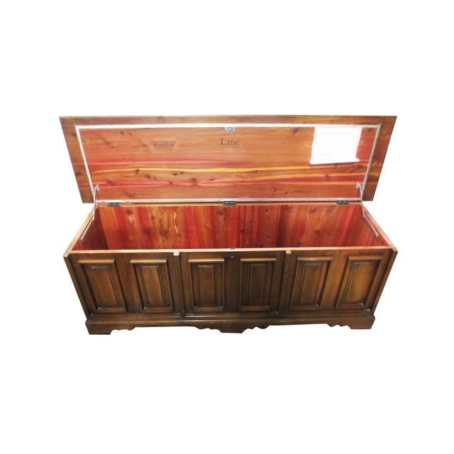 Lane Low Paneled Cedar Chest - Image 2 of 9