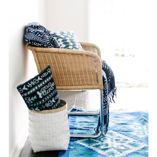 Image of Blue Oaxaca Wool Rug - 4′ × 6′