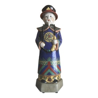 Chinese Polychrome Painted Ceramic Figurine