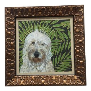 Labradoodle Dog Print by Judy Henn