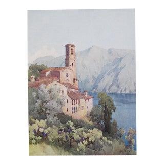 1905 Ella du Cane Print, Castagnola, Lago di Lugano