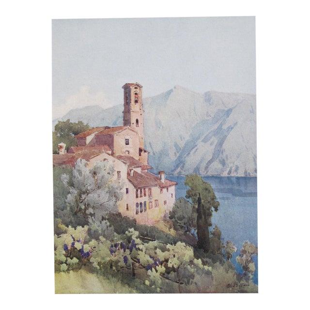 1905 Ella du Cane Print, Castagnola, Lago di Lugano - Image 1 of 4
