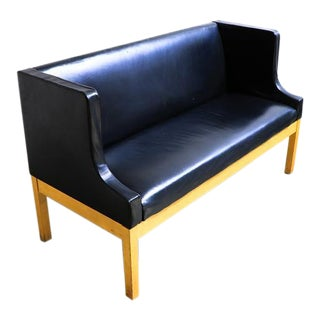 Leather Bound Church Pue Style Bench