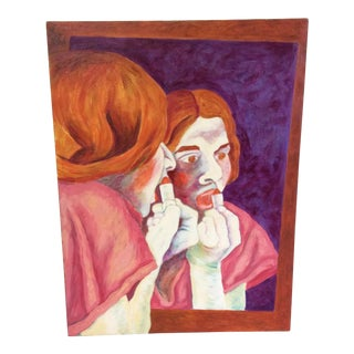 Mid-Century Painting of a Redhead