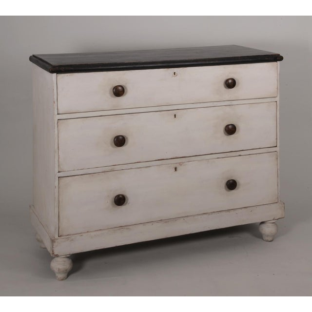 Antique English Country Painted Pine Chest of Drawers - Image 2 of 8