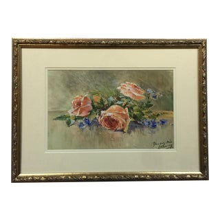 Vintage English Watercolor