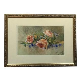 Vintage English Watercolor