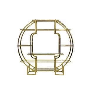 Milo Baughman-Style Brass Étagère