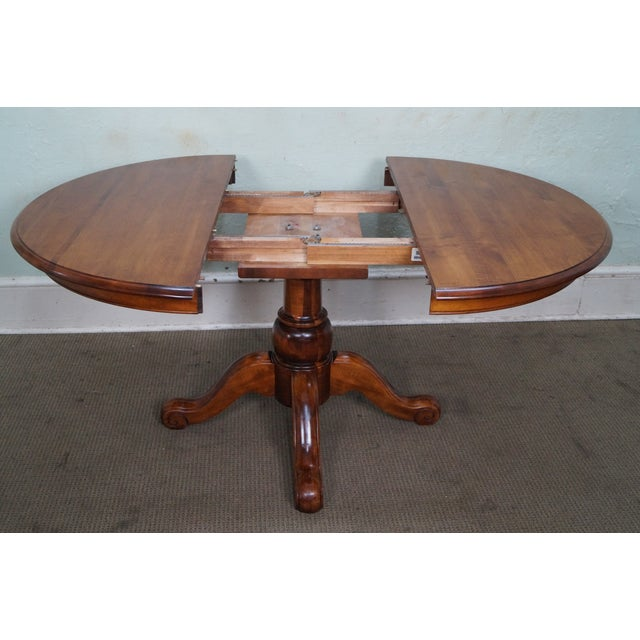 ethan allen country crossings round pedestal dining table chairish. Black Bedroom Furniture Sets. Home Design Ideas
