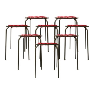 Carnevale Studio Stretch Rubber and Steel Stools - Set of 8