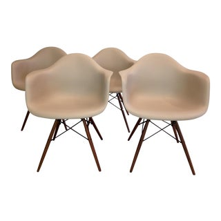 Eames Molded Plastic Dining Chairs - Set of 4