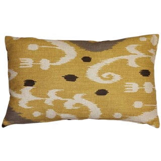 Indah Ikat Yellow Pillow