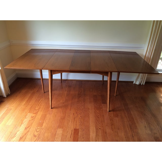 mid century expandable drop leaf dining table chairish. Black Bedroom Furniture Sets. Home Design Ideas