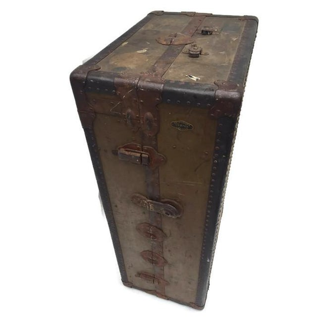 Antique Wardrobe Steamer Trunk - Selfridges of London - Image 4 of 9