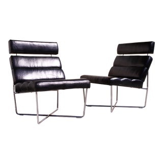 Oversized Modern Lounge Chairs - A Pair