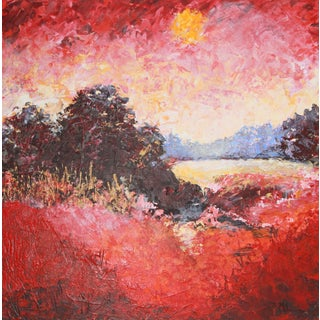 """Lake Scene, Autumn"" Painting by Celeste Plowden"