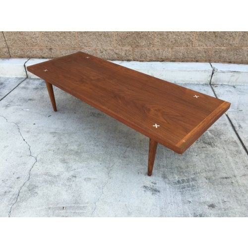 Mcm Walnut Coffee Table George Nelson Style Chairish