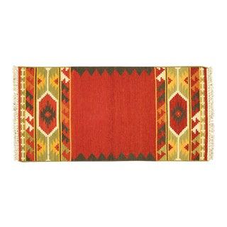 "Navajo Dyed Wool Kilim - 2' 3"" X 4' 6"""