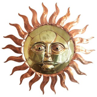 Sergio Bustamante Sun Wall Sculpture