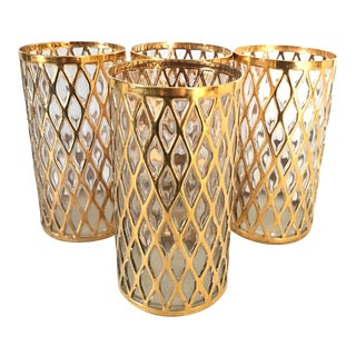 Imperial Sekai Ichi 24 Karat Gold Highball Glasses- Set of 4