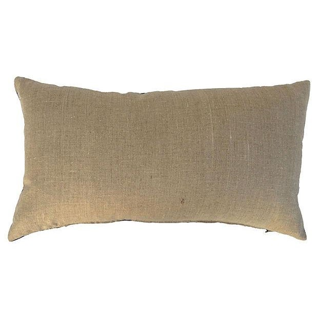 Serpent Indigo Batik Fringe Pillow - Image 2 of 5