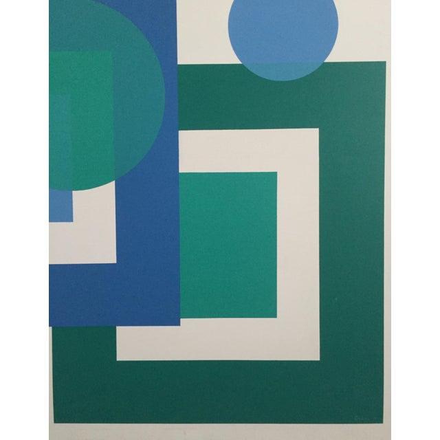 1971 Hard Edge Abstract Fredrick Gaertner - Image 3 of 10