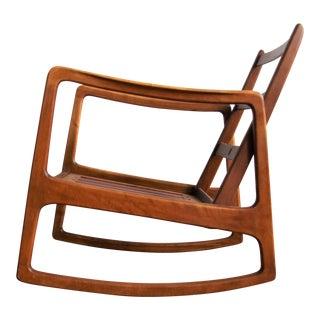 Danish Mid-Century Modern Rocking Chair by Ole Wanscher for France & Daverkosen