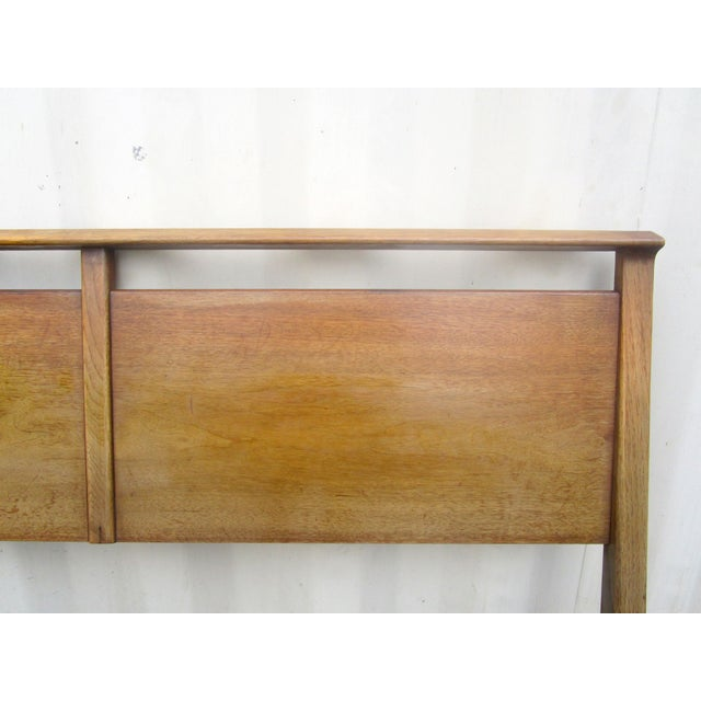 Image of Vintage Wooden Headboard & Footboard, Full Size