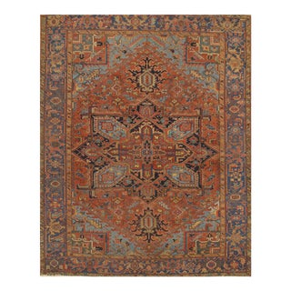 Pasargad N Y Antique Persian Heriz Hand-Knotted Rug - 7′ × 9′