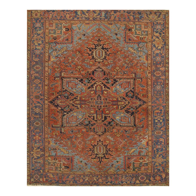 Pasargad N Y Antique Persian Heriz Hand-Knotted Rug - 7′ × 9′ - Image 1 of 3