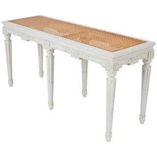 Louis XVI Caned Seat Bench