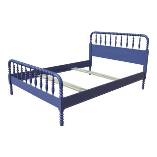 Full Jenny Lind Spindle Bed in Southern Belle Blue