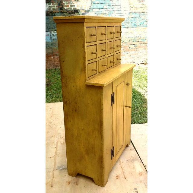 Handmade Yellow Apothecary Cupboard - Image 4 of 10