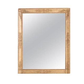 French 19th Century Empire Gold Gilt Mirror