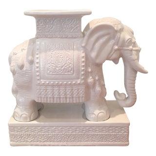 White Elephant Side Table Garden Stool