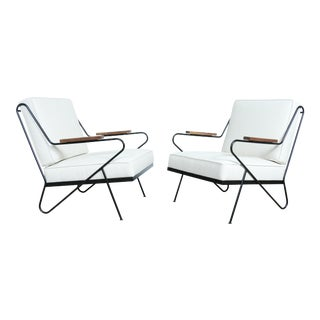 Wrought Iron Modern Chairs - A Pair