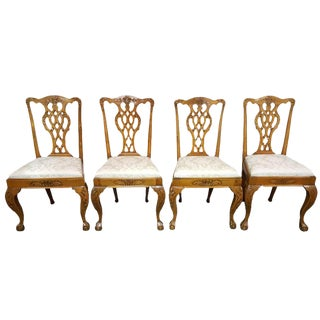 19th C. Chippendale Style Dining Chairs - Set of 4