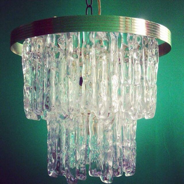 Lighting Thomasville Ga: Vintage Lucite And Brass Chandelier
