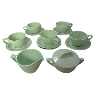 Mid-Century Molded Melamine Tea Set
