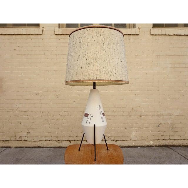 California Modernist Llama Lamp - Image 2 of 6