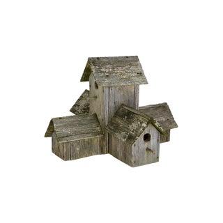 Vintage Rustic Weathered Cedar Birdhouse