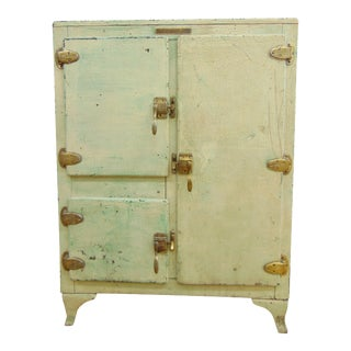 20s Art Deco Refrigerator Ice Box