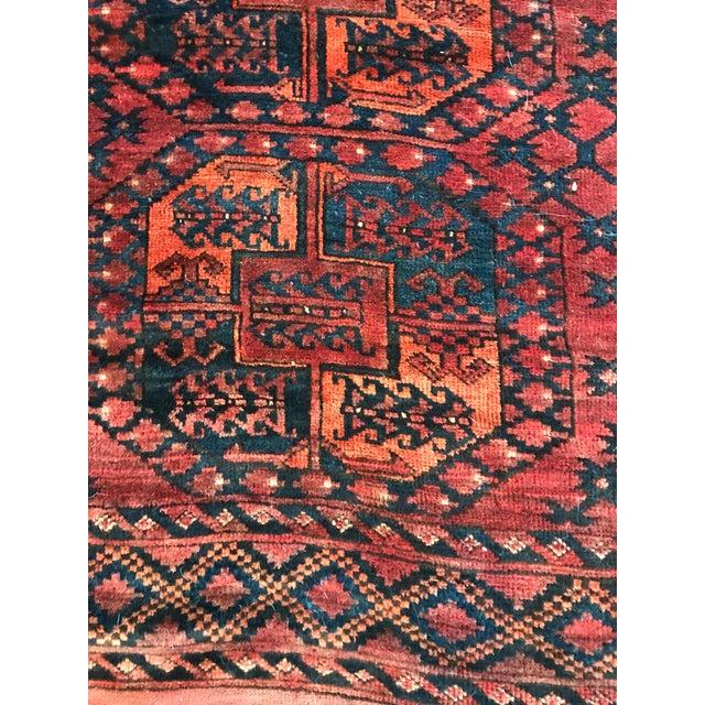 Vintage Handwoven Afghan Rug - 8′ × 10′6″ - Image 5 of 9