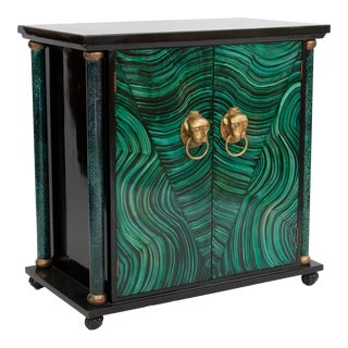 Art Deco Faux Malachite Cabinet