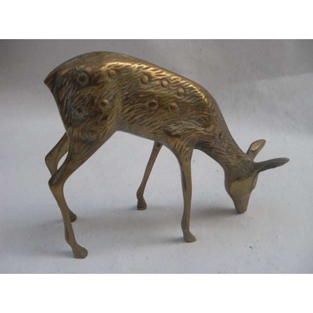 Vintage Brass Deer - A Pair - Image 4 of 5