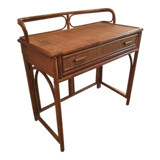 Vintage Rattan Desk or Bar
