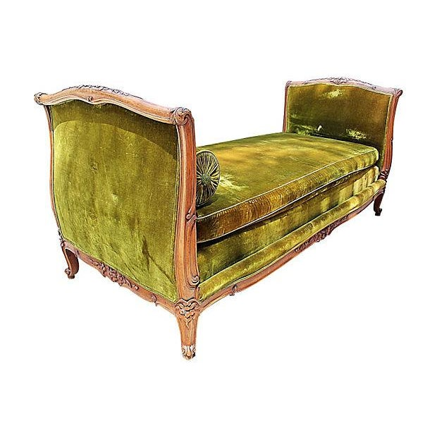 Louis XV-Style French Antique Daybed - Image 2 of 6